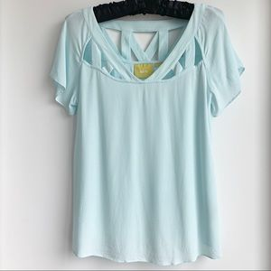Anthropologie Maeve blouse with cutout detail